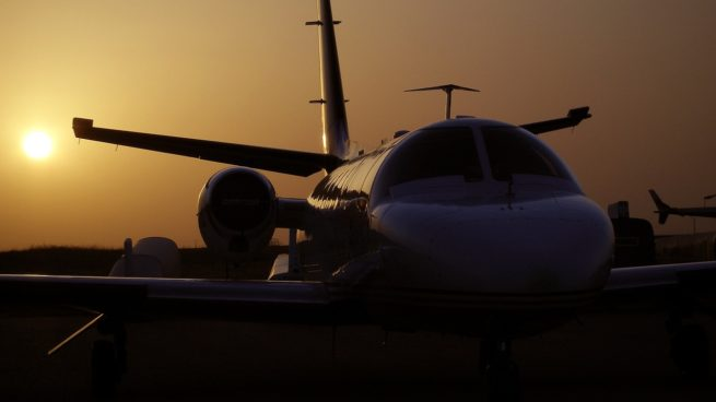 PrivateJetSunset