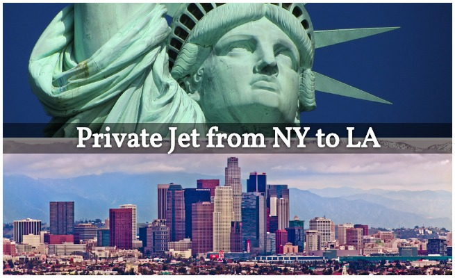 Private Flight from NY to LA