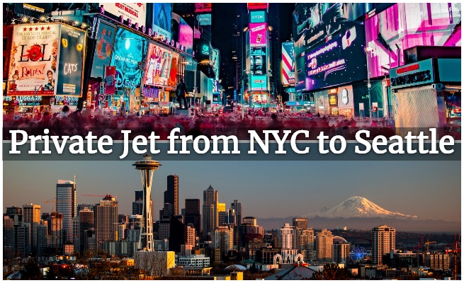 private jet new york to seattle