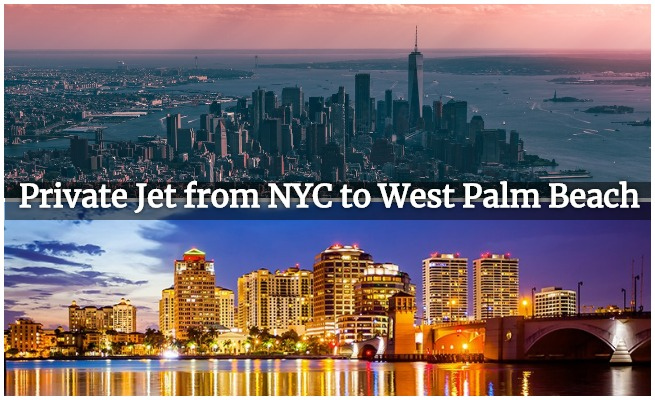 private jet nyc to pbi