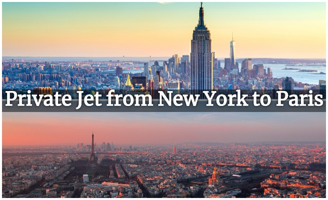 privcate jet NY to Paris